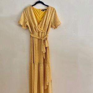 One love clothing faux wrap midi dress (M)